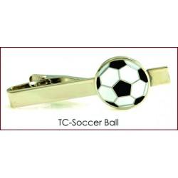 Soccer Ball Tie Clip