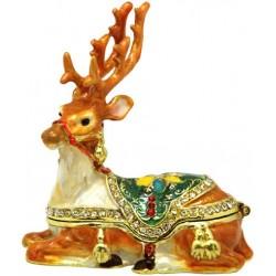 Xmas Reindeer Trinket Box