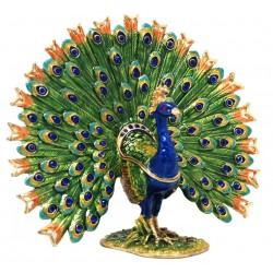 Peacock - Fantail Trinket Box