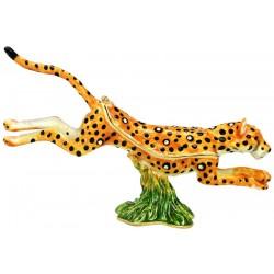 Leopard Running Trinket Box