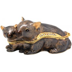 Wombat Family Trinket Box