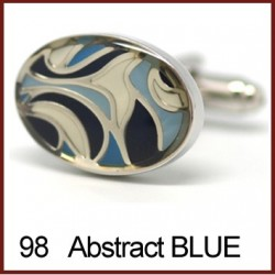 Abstract Blue Cufflinks