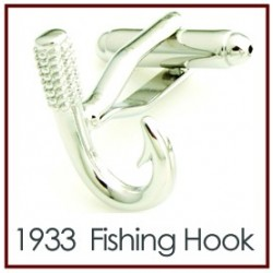 Fishing Hook Novelty Cufflinks