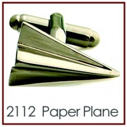 Paper Plane Novelty Cufflinks