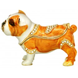 Bulldog Tan Trinket Box