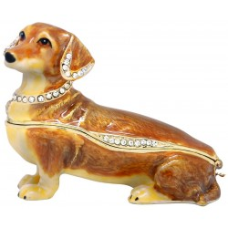 Dachshund-Tan Trinket Box