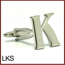 K - Letter/Initial Silver...