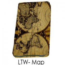 Travel Wallet Leather- Map