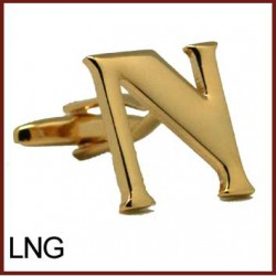 N - Letter/Initial Gold...
