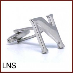 N - Letter/Initial Silver...
