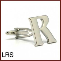 R - Letter/Initial Silver...