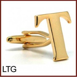 T - Letter/Initial Gold...