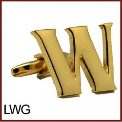 W - Letter/Initial Gold...
