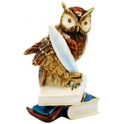 Owl on Books Trinket Box