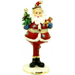 Tall Santa Trinket Box