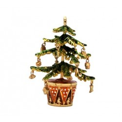 Potted Xmas Tree Trinket Box