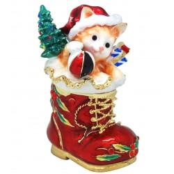 Xmas Kitten - Trinket Box