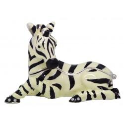 Zebra Lying Trinket Box