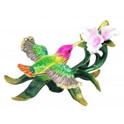 Hummingbird Green Trinket Box