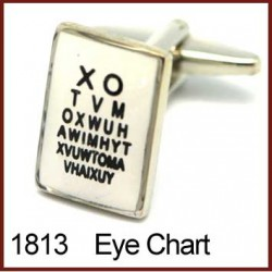 Eye Chart Novelty Cufflinks