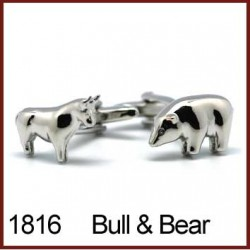 Bull & Bear Novelty Cufflinks