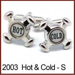 Hot Cold Tap Heads - Silver...