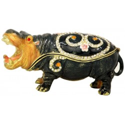 Hippo Trinket Box