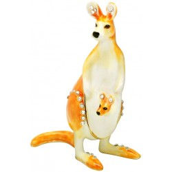 Kangaroo Family Trinket Box