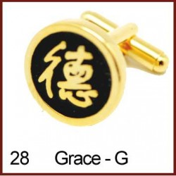 Grace - Gold Cufflinks