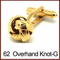 Overhand Knot - Gold Cufflinks