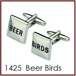 Beer Birds Novelty Cufflinks