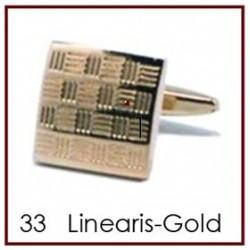 Linearis Gold Cufflinks