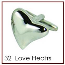 Love Hearts Cufflinks