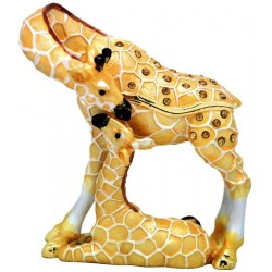 Giraffe Family Trinket Box