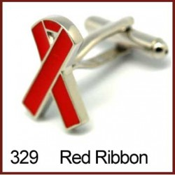 Red Ribbon Cufflinks