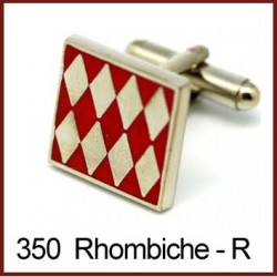 Rhombiche - Red Cufflinks