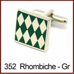 Rhombiche - Green Cufflinks