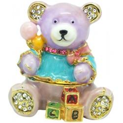 Alphabet Bear Trinket Box