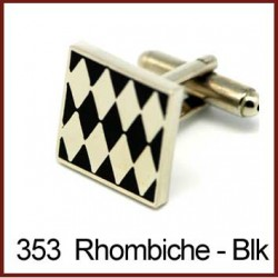 Rhombiche - White Cufflinks