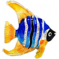 Black Angel Fish Trinket Box