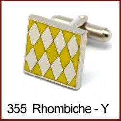 Rhombiche - Yellow Cufflinks