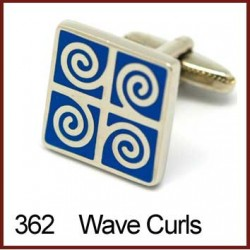 Waves & Curls Cufflinks