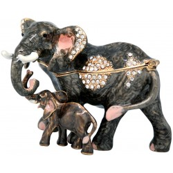 Elephant Family Trinket Box