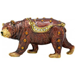 Grizzly Bear Trinket Box