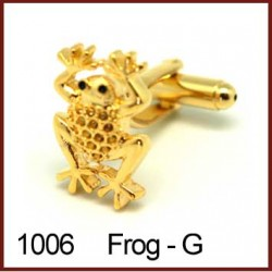 Frog - Gold Novelty Cufflinks