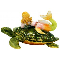 Turtle Mermaid Trinket Box