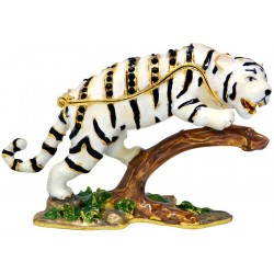 White Tiger Trinket Box