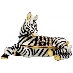 Zebra Lying Trinket Box