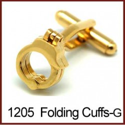 Folding Handcuffs - Gold...