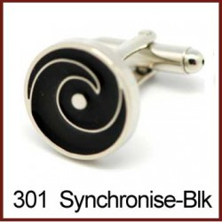 Synchronise - Black Cufflinks